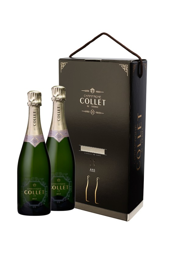 Coffret duo brut champagne collet