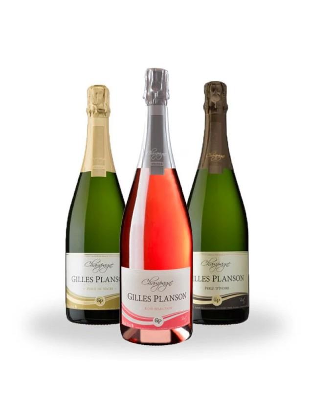 Les Perles De La Vallée Trilogie champagne gilles planson
