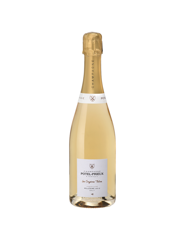 """Blanc de Blancs millésimé """"Les Crayères Folies"""" champagne potel-prieux"""
