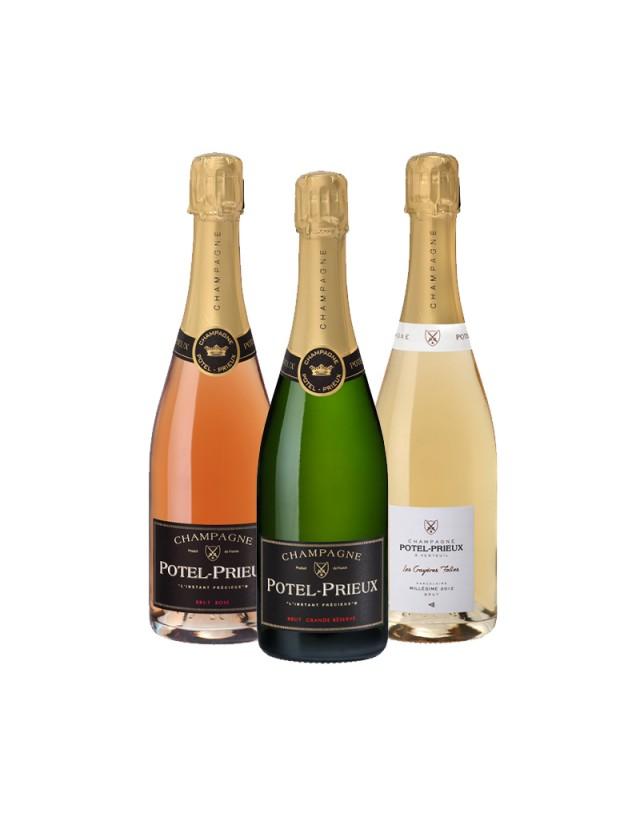 Coffret Découverte champagne potel-prieux