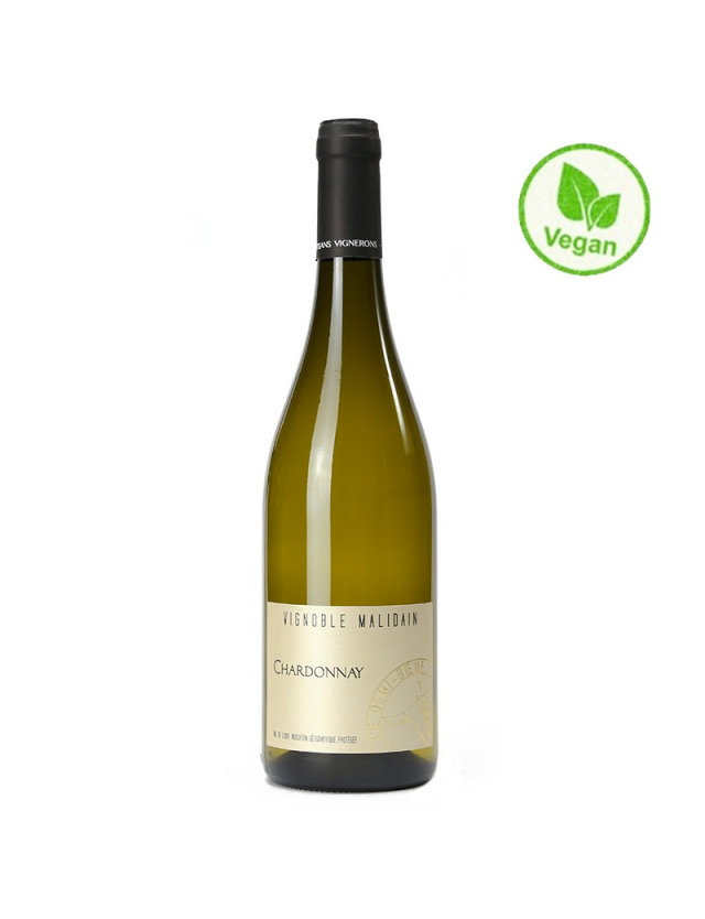 "Chardonnay ""Le Demi-Boeuf"" - Vin Vegan vignoble malidain"