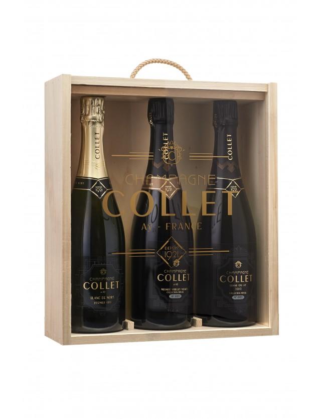 Coffret sélection Blanc de Noirs champagne collet