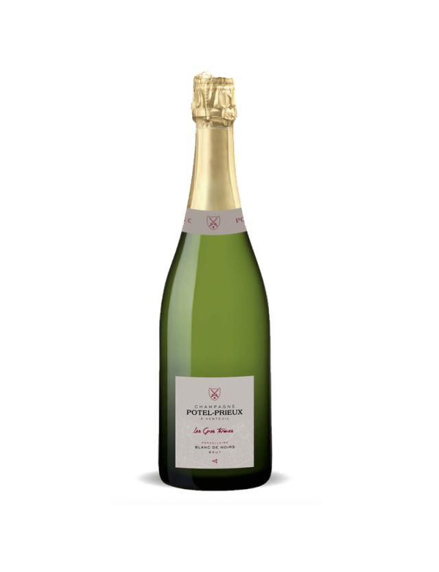 """Blanc de Noirs """" Les Gros Termes """" champagne potel-prieux"""
