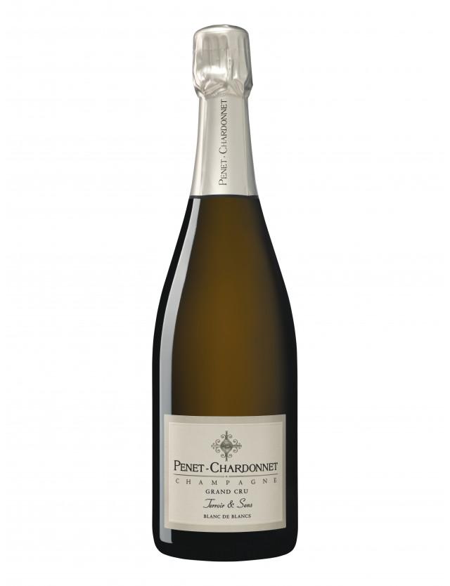 Penet-Chardonnet Grand Cru - Terroir & Sens Blanc de Blancs Extra Brut la maison penet