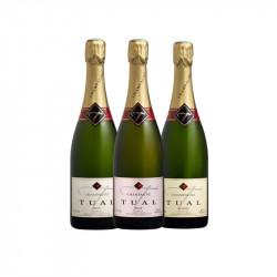 Coffret champagne Rosé Champagne Tual