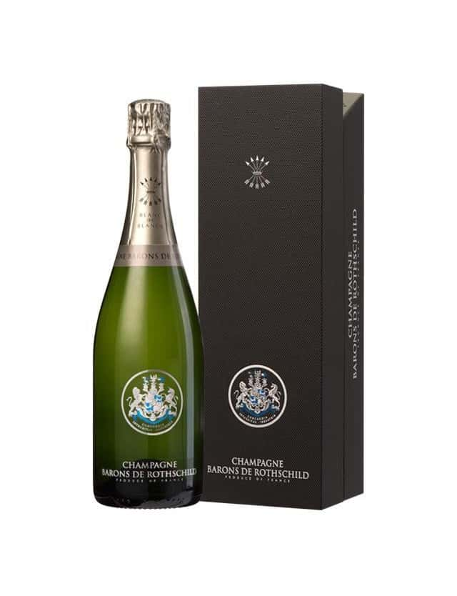 CUVEE BLANC de BLANCS AVEC COFFRET champagne barons de rothschild