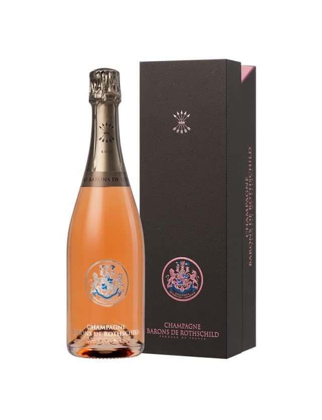 CUVEE ROSE AVEC COFFRET champagne barons de rothschild