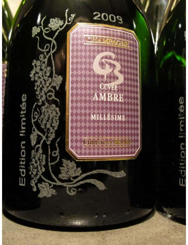 Cuvée Ambre millésimé Edition limtée champagne christian briard