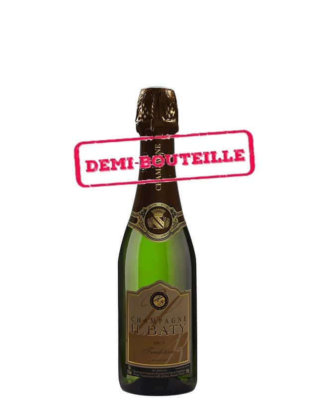BRUT TRADITION - demi bouteille Champagne H. Baty
