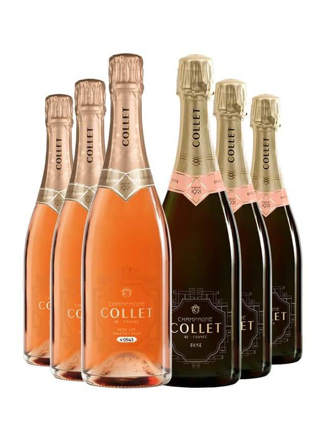 Coffret découverte Champagne rosé Collet