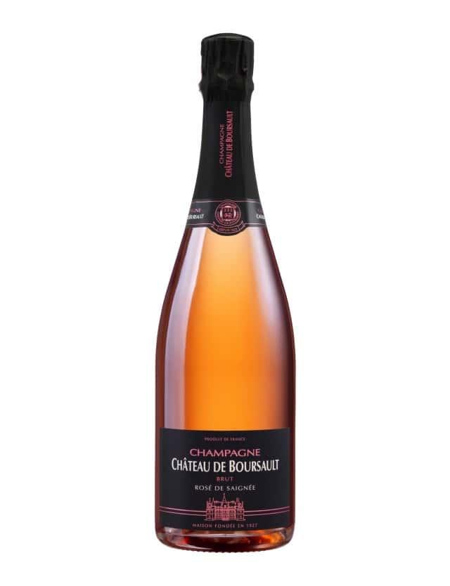 Rosé de Saignée champagne chateau de boursault