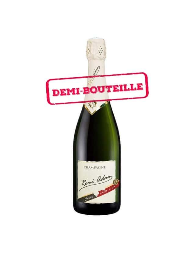 "Cuvée Brut ""Tradition"" half bottle champagne remi adam"