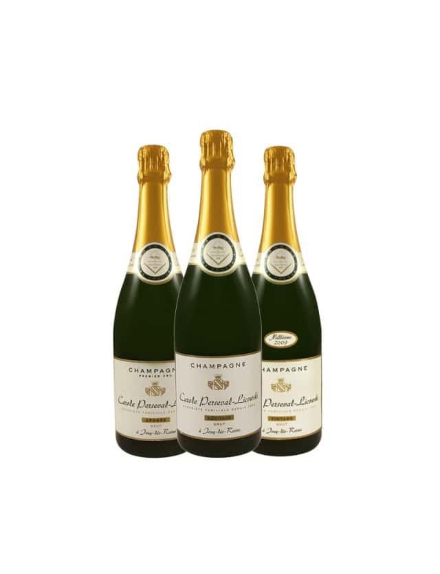 Epicuriosité 1 - 3 bouteilles champagne carole perseval-licowski