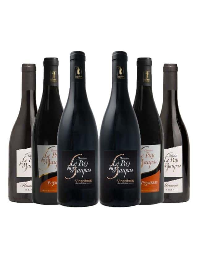 Coffret découverte Vins Rouges domaine le puy du maupas