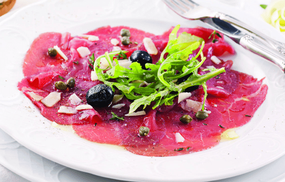 Carpaccio de boeuf et vin : 2 accords parfaits