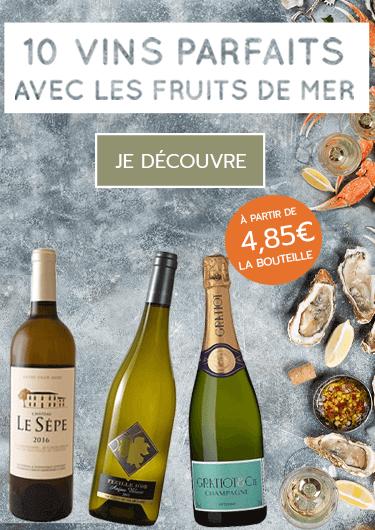 10 vins parfaits avec les fruits de mer